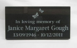 Granite Memorial Plaque - Small