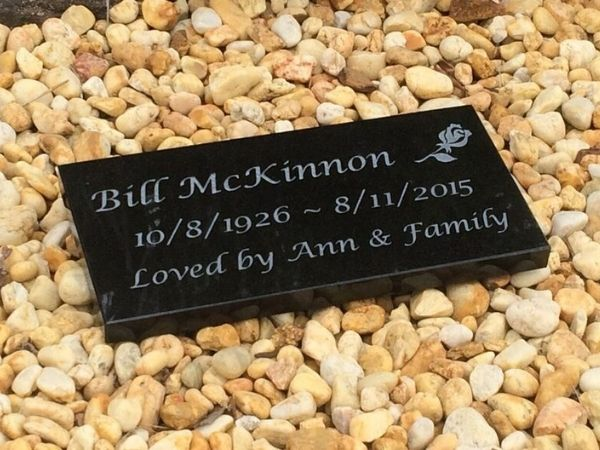 small granite memorial plaque