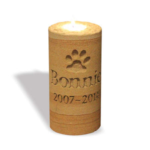 Sandstone Memorial Candle - Pets