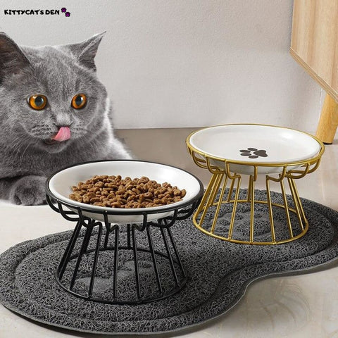 New Fashion High-end Ceramic Cat Food and Water Bowls with
