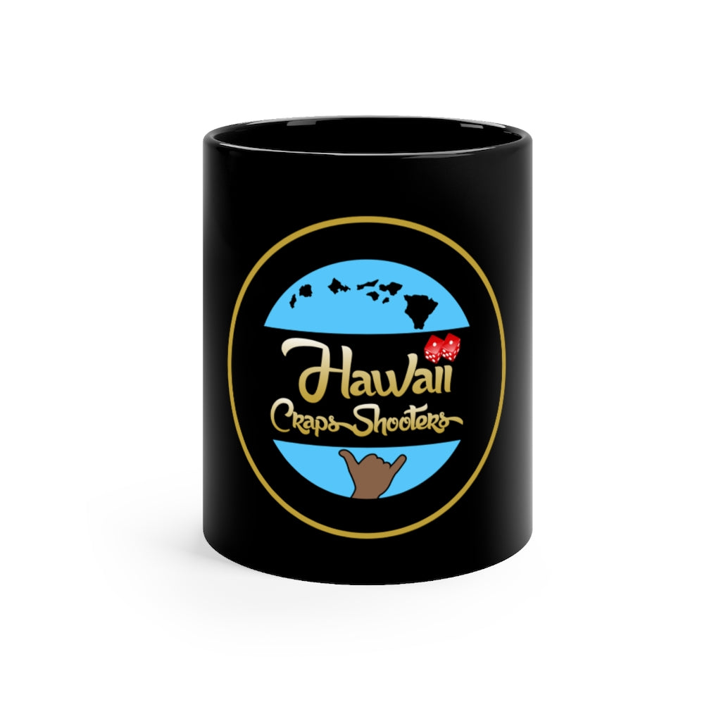Hawaii Craps Shooters Black mug 11oz