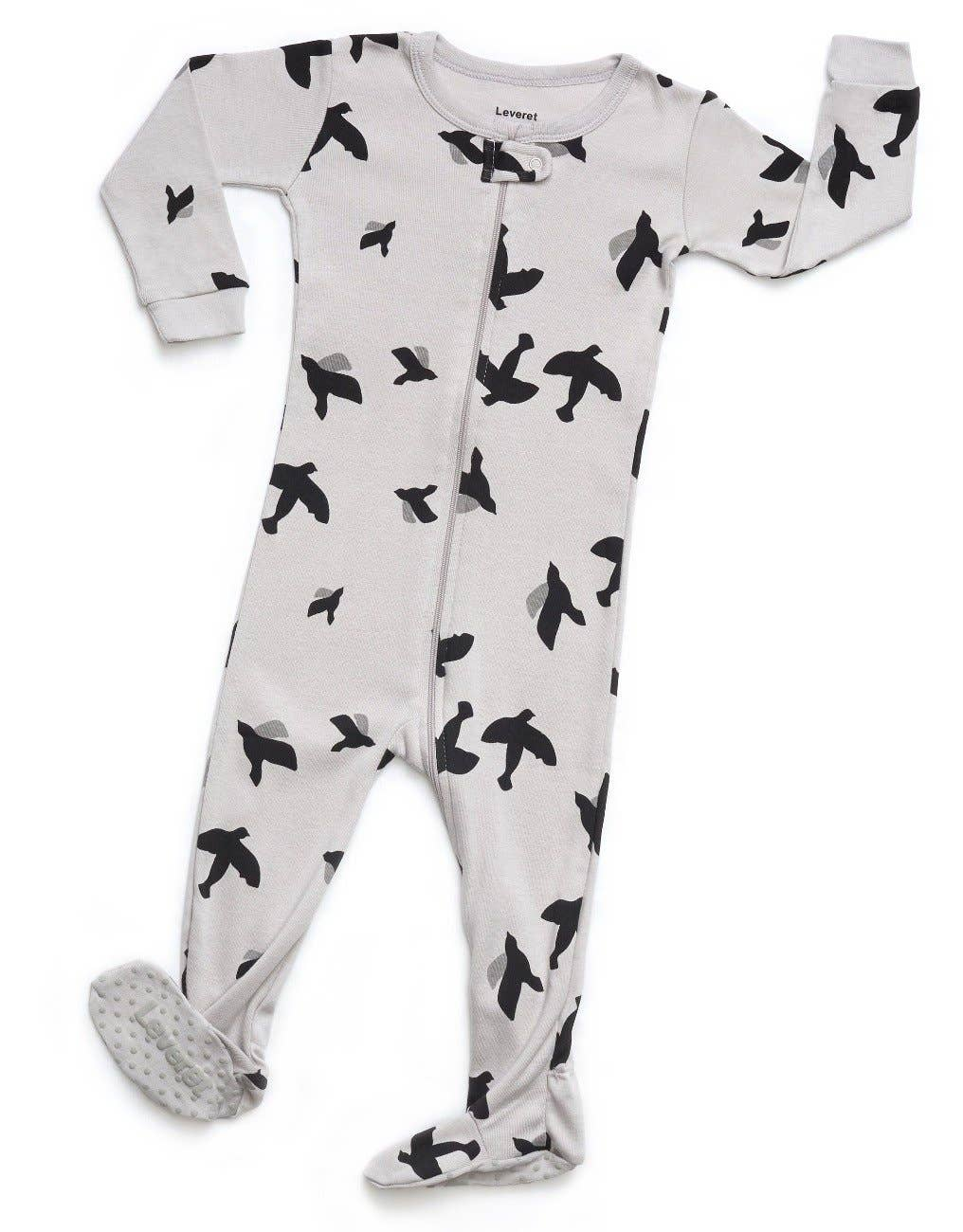 Baby Footed Organic Cotton Animal Pajamas