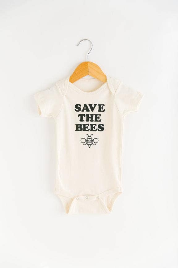 Save the Bees Onesie - Organic