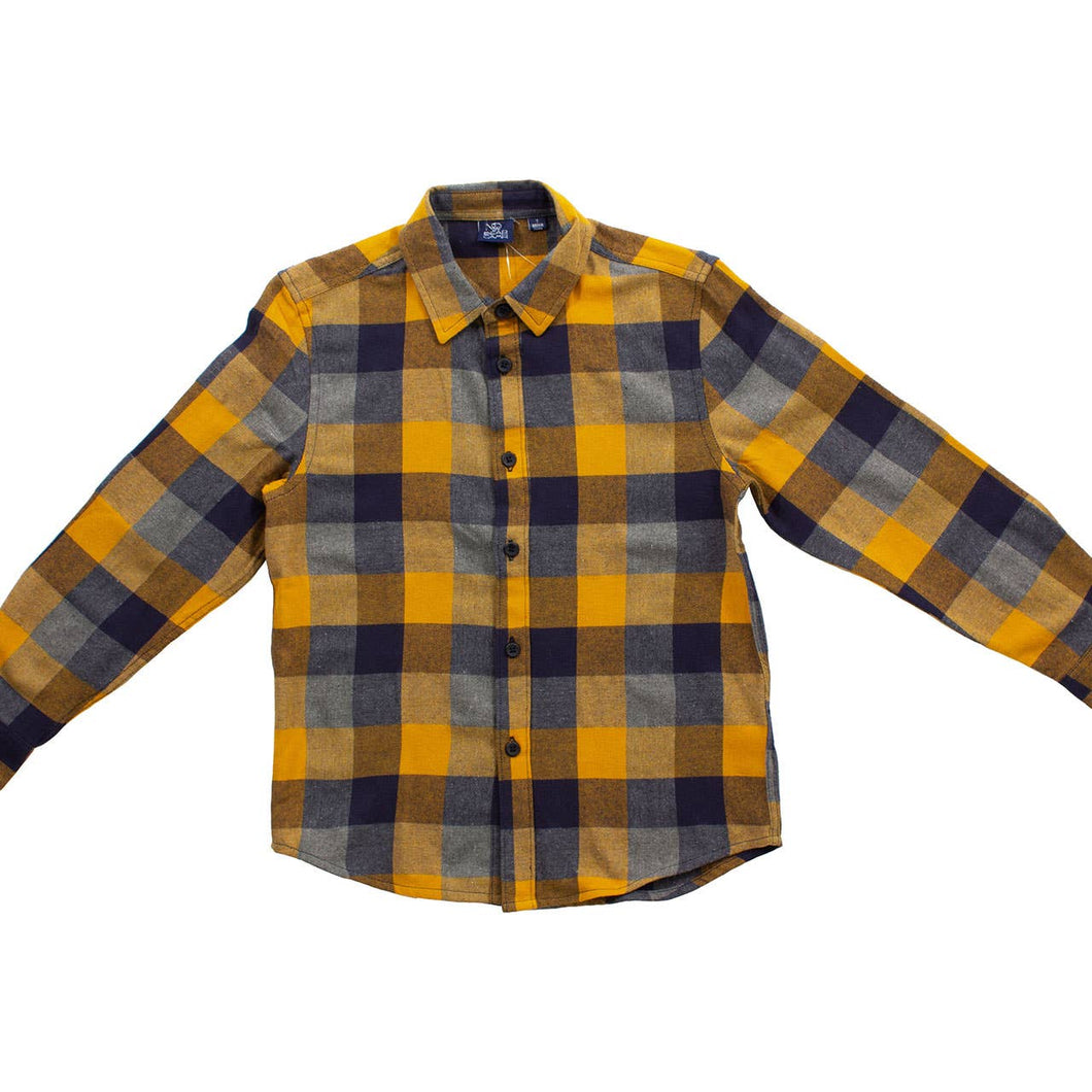 Harvest Gold Flannel Button Down
