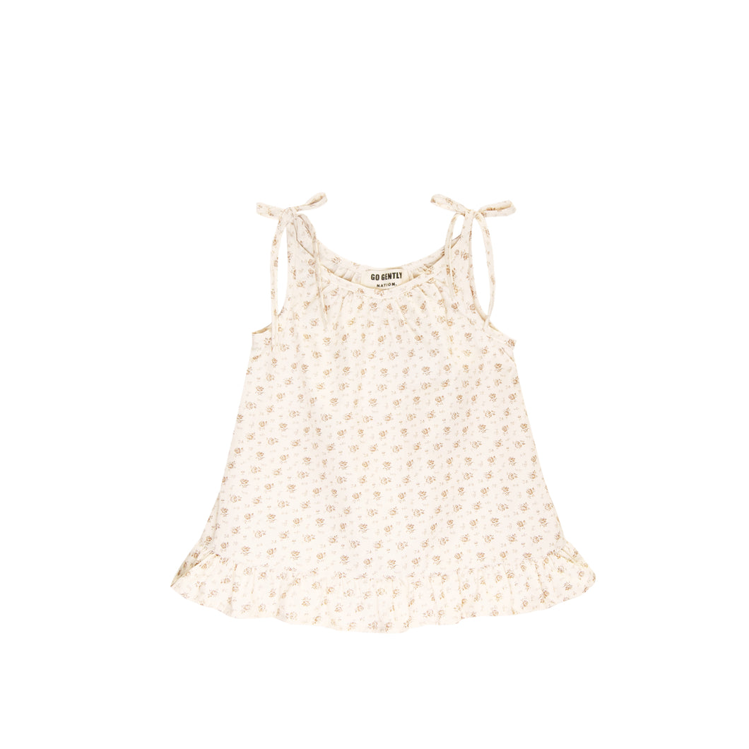 GO GENTLY NATION Woven Ruffle Top, Floral
