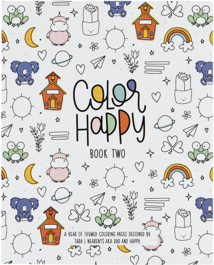 Color Happy Coloring Book - Volume 2