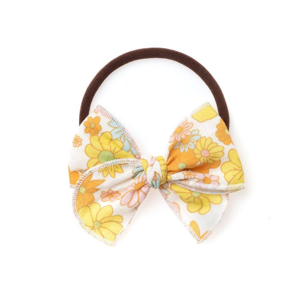 Infant Petite Fable 70s floral dark shade bow (Copy)