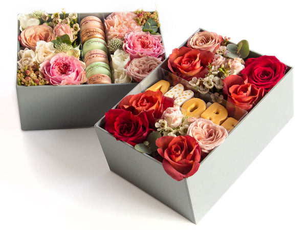 I Do Flowers - Scatola MAXI con Macarons e AMORE