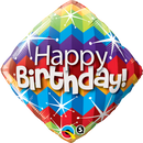Diamond Foil Bday Zig Zags & Starbursts