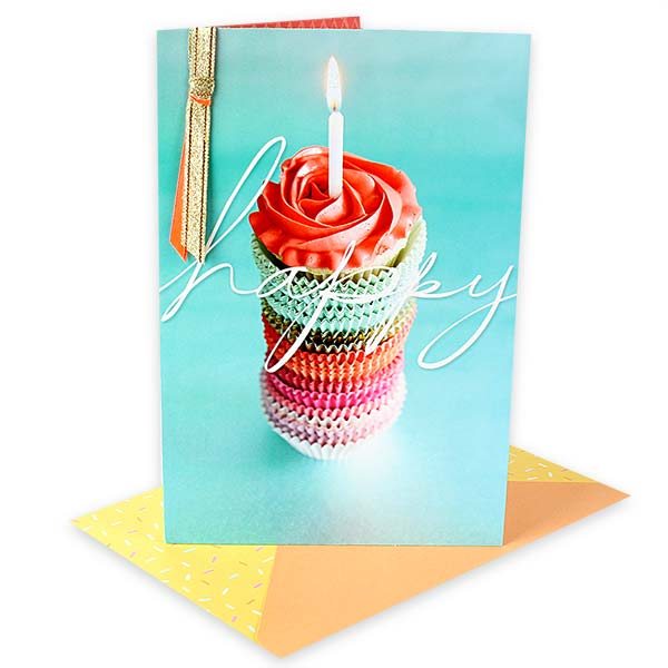 Happy Cup Cake Card