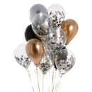 Silver and gold Confetti Balloons