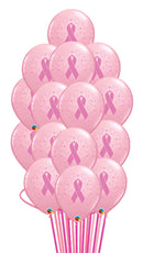 Breast Cancer Balloon Bouquet