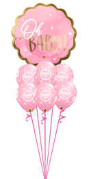 Pink Baby Girl Balloon Bouquet