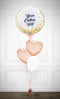 Bubbles Custom Text and Heart Balloon Bouquet -  PRE 0RDER 1day