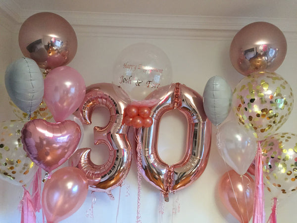 Personalized 30th Birthday Balloon Set