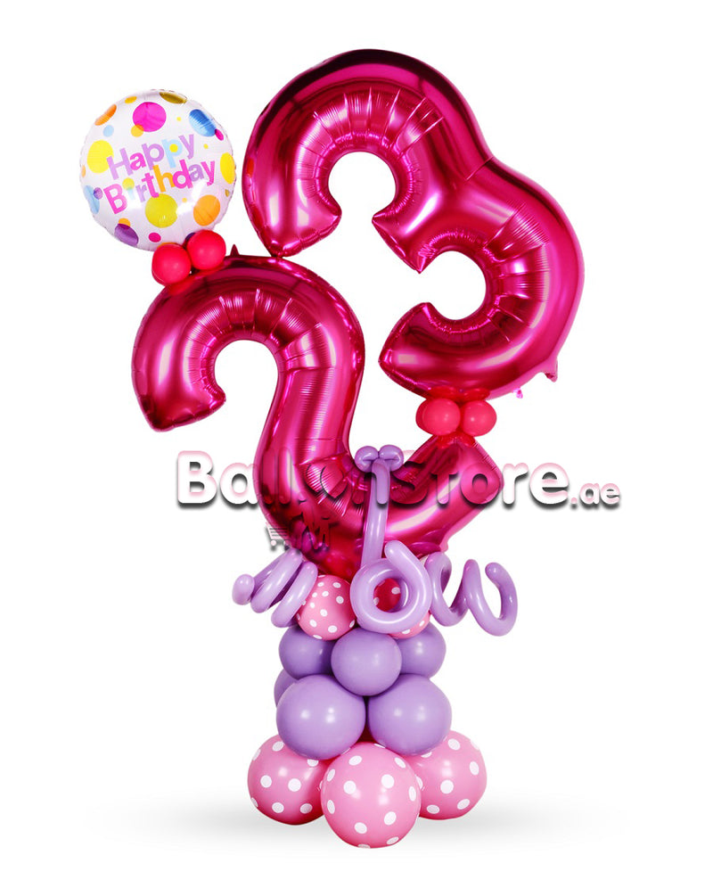 Any 2 Number Birthday Arrangement (F)