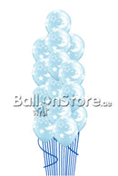 Pearl Light blue Baby moon Stars Bouquet-15 pcs. with weight