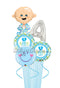 Any Letter Baby Boy LO(Feet)E Balloon Bouquet