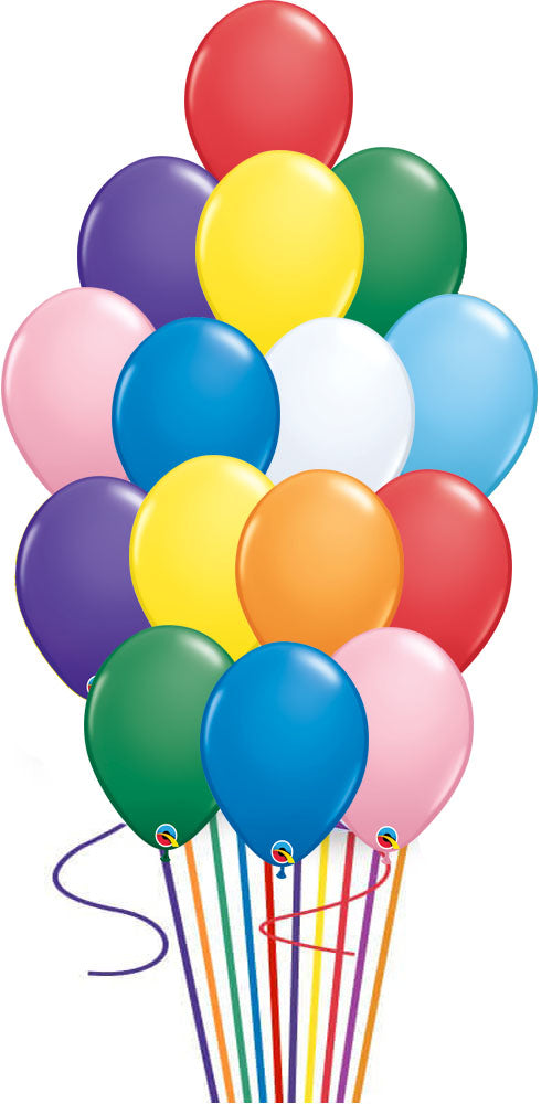 12 Assorted color Balloon Bouquet with weight
