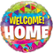 Round Foil Welcome Home Pennants