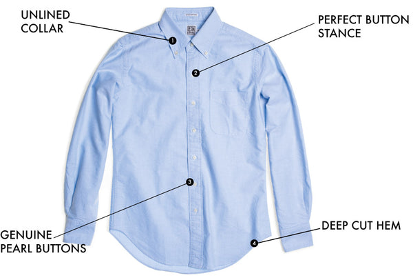 Oxford cloth button-down shirt explained