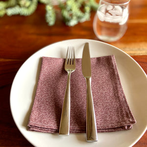 Muted Purple Mini Vines Vintage Cloth Dinner Napkins - 13in square