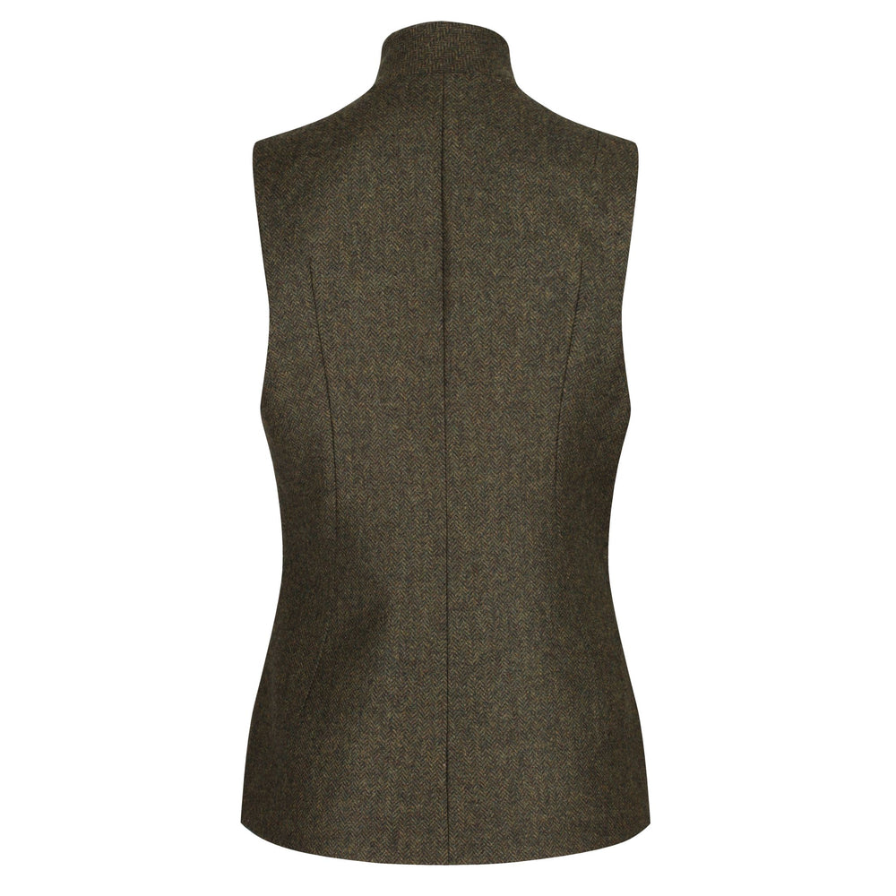 Ladies nehru wool gilet