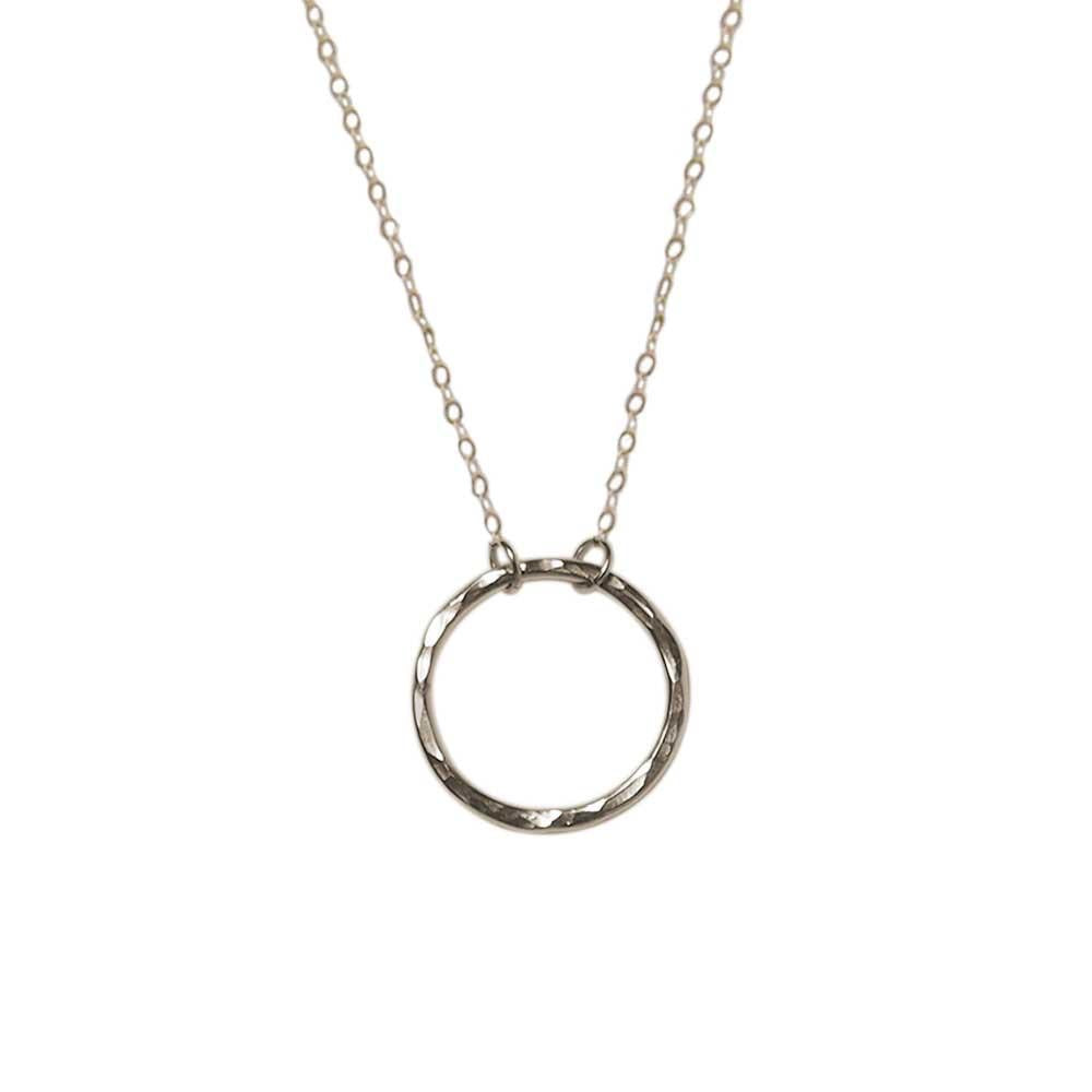 Strut Jewelry - Hammered Circle Pendant Necklace