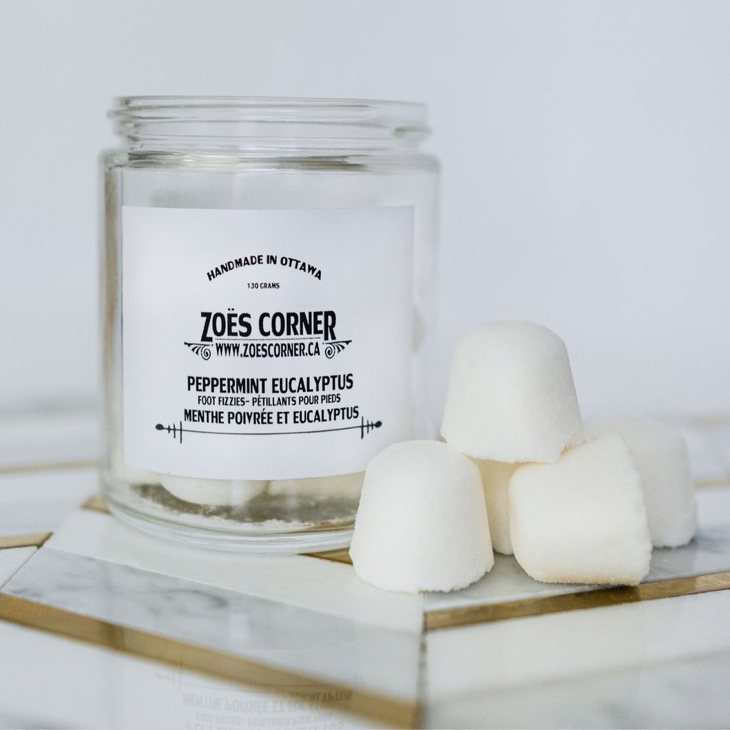 Zoes Corner Peppermint Foot Fizzies