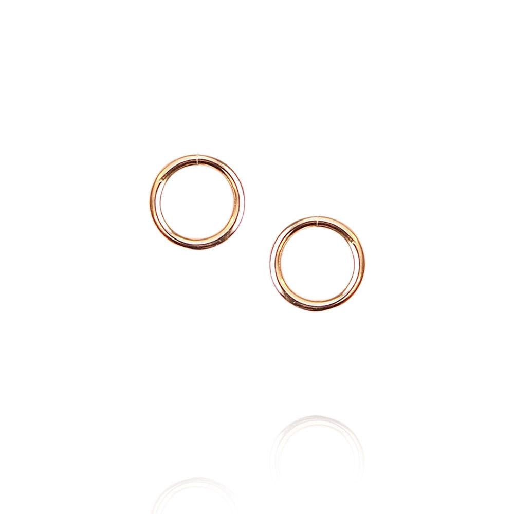 Strut Jewelry- Open Circle Stud Earrings