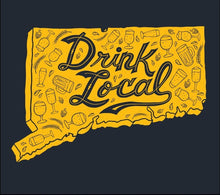 "Load image into Gallery viewer, CT Beer Shirt ""Drink Local"""