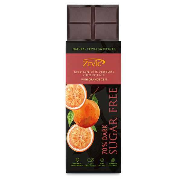Zevic 70% Dark Belgian Couverture Chocolate with Orange Zest