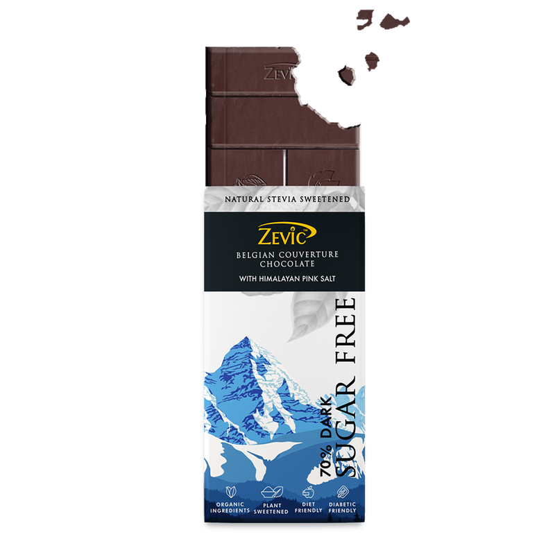 Zevic 70% Dark Belgian Couveture Chocolate with Himalayan Pink Salt