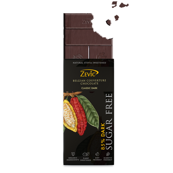 Zevic 85% Dark Belgian Couverture Chocolate- Classic Dark