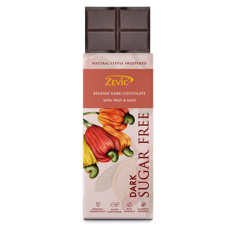 Zevic Belgian Dark Chocolate with  Fruit and Nuts