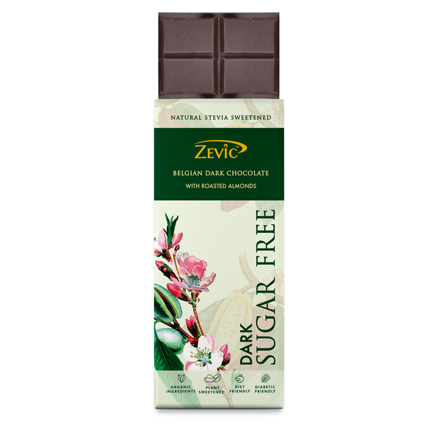 Zevic Belgian Dark Chocolate with Roasted Almonds