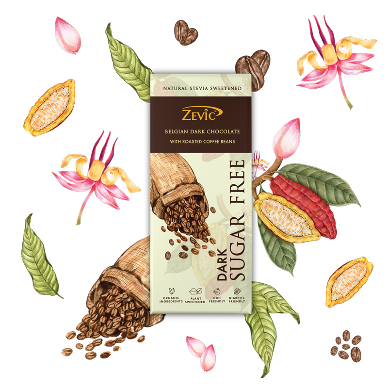 Zevic Belgian Dark Chocolate with Roasted Coffee Beans