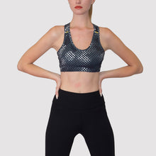 Load image into Gallery viewer, ozency Sportwear Ozency S-XL Women Workout Outfit 2 Pieces Sports Bra with Capri Leggings Gym Athletic ActiveWear (Black)