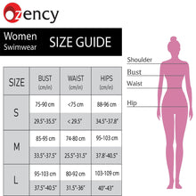 Load image into Gallery viewer, ozency Swimming Suits Ozency High Neck One Piece Bikini for Women | Waist Braided Bathing Suit (Textures Cross)