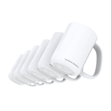 Load image into Gallery viewer, Set of 6 Glossy Solid White