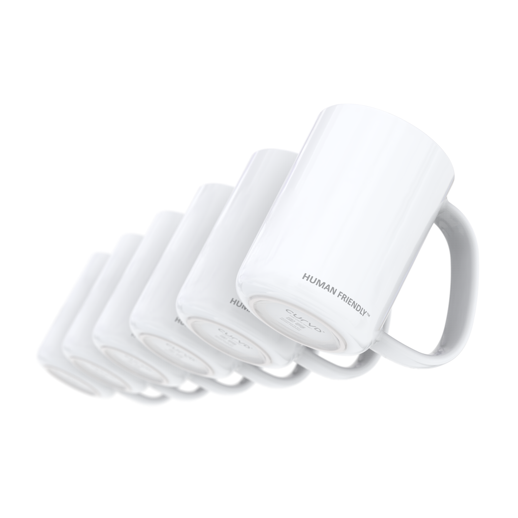 Set of 6 Glossy Solid White