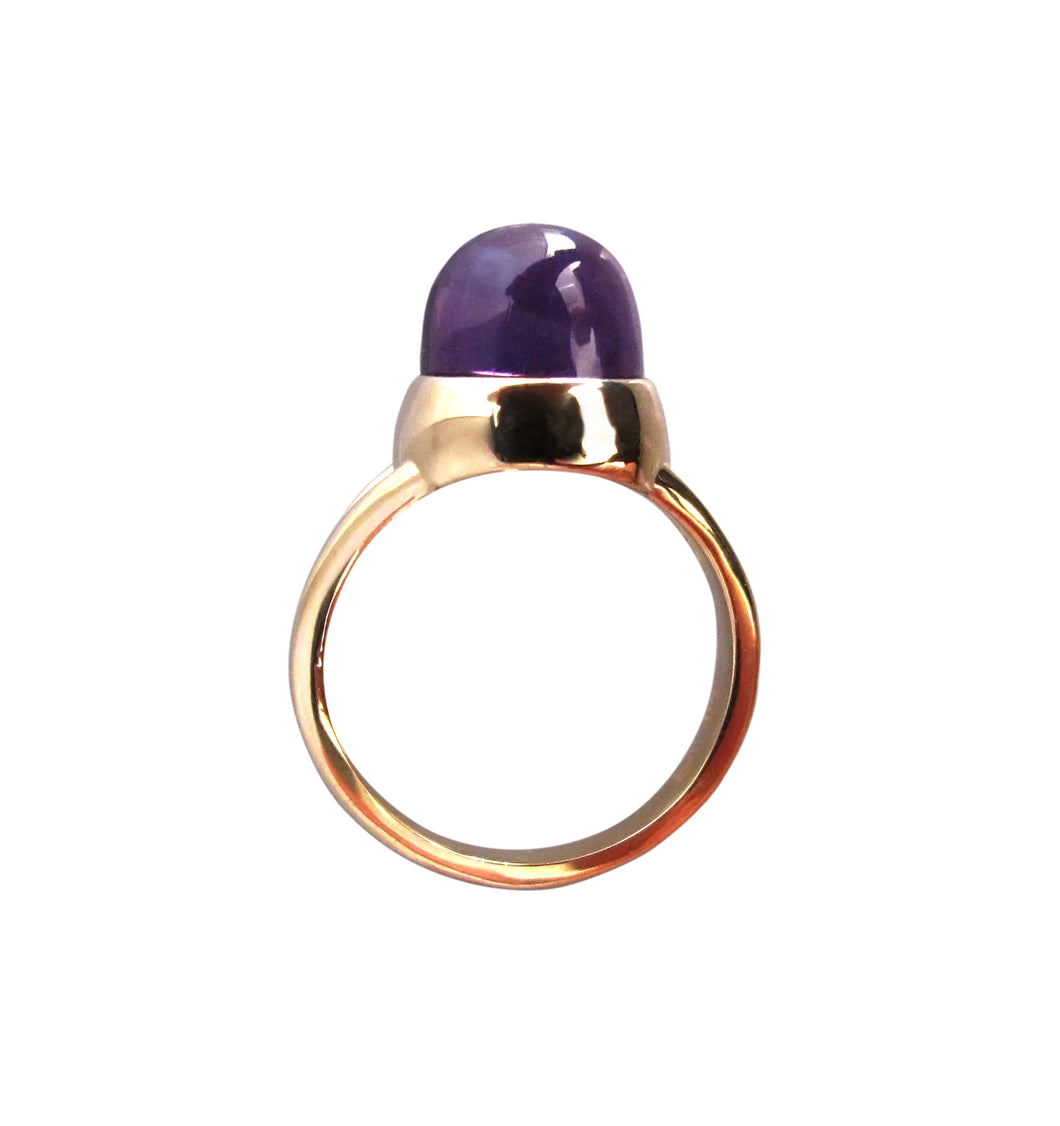 Amethyst Dome Ring