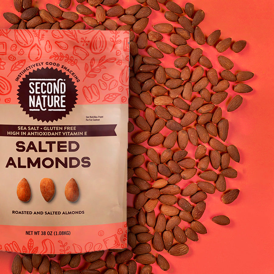 SALTED ALMONDS 38oz POUCH