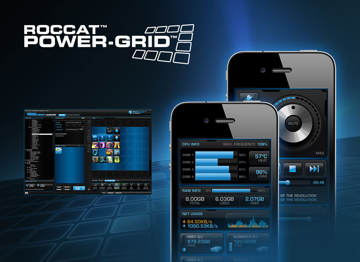 ROCCAT Power-Grid software screenshot