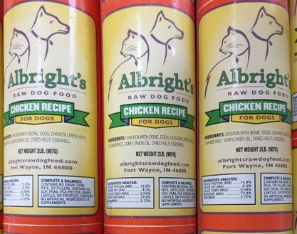 Albright's Raw Dog Food CHICKEN Recipe