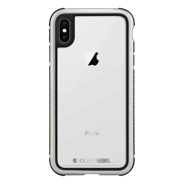 GLASS REBEL military grade durable 2-in-1 glass case for iPhone Xs