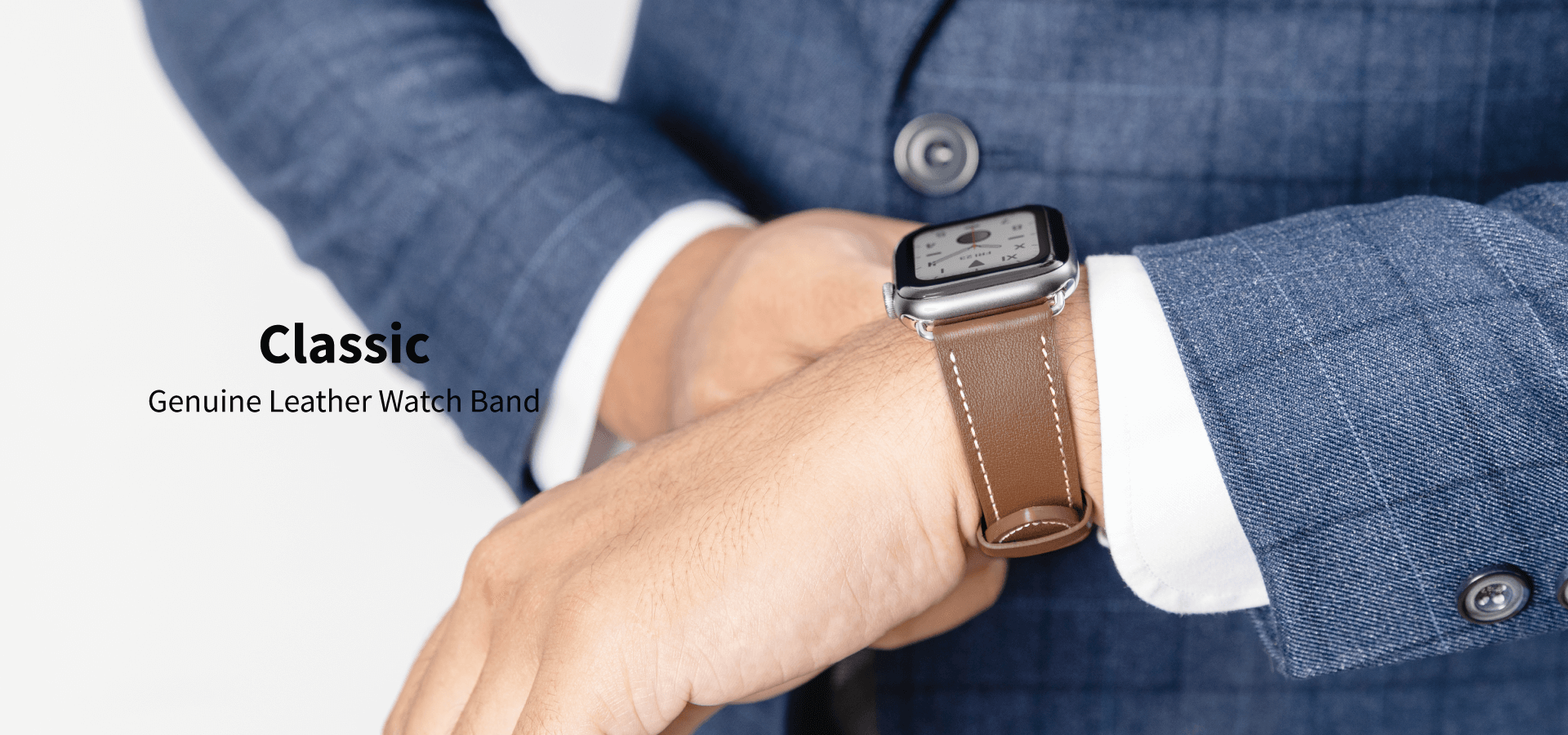 Classic Genuine Leather Watch Band