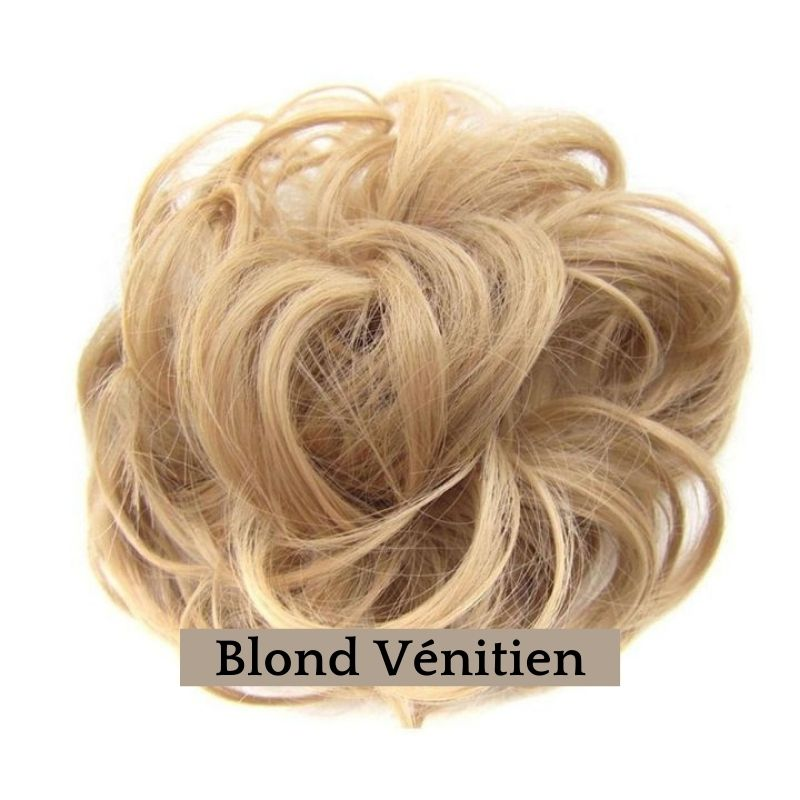 Chignon Faux Cheveux Blond | Pop Chignon