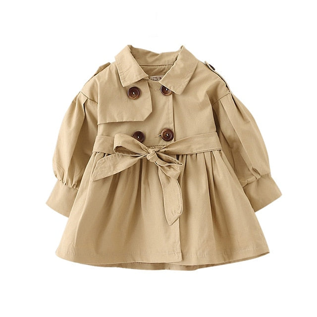 Baby Coat with Belt - 2 Colors