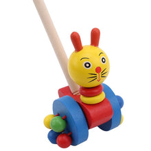 Load image into Gallery viewer, Wooden Animals Pushing Toys - 5 designs